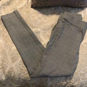 JonesNewYork Gray Fall Stretchy Plaid Pants Size 4